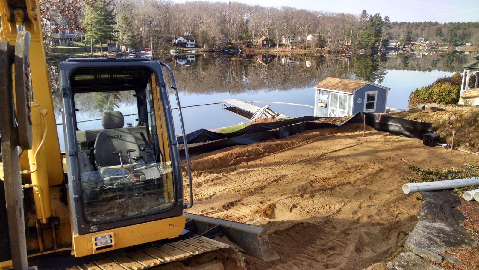 Excavation lakeside lot