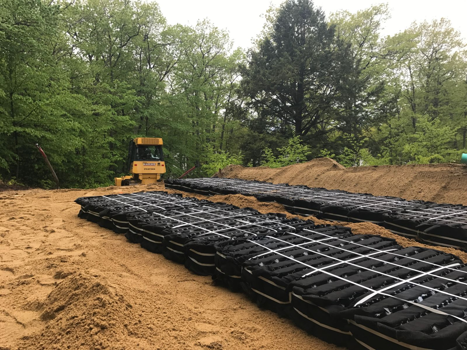 Eljen B43 units installed in bed excavation