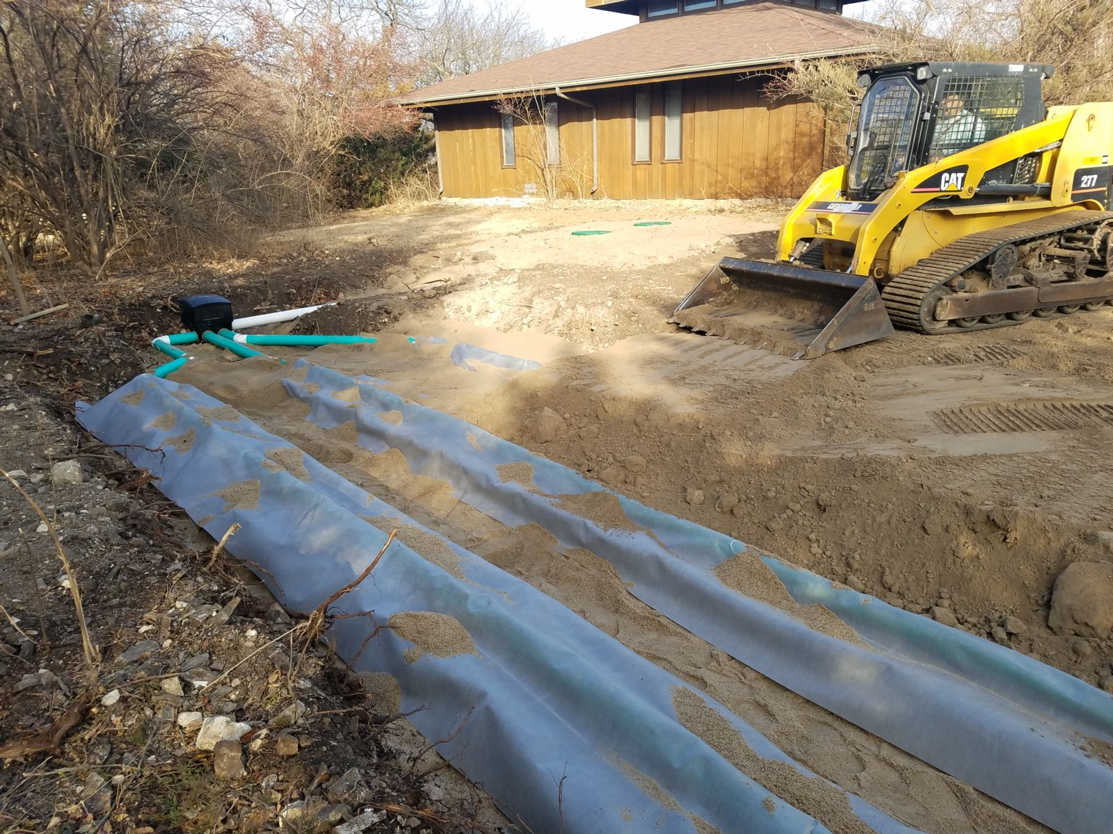 geotextile septic system install Kansas